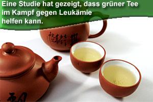 Grüner Tee kann bei Leukämie helfen
