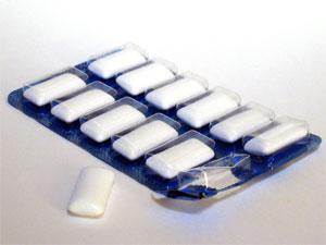 Zuckerfreie Kaugummis: meistens Aspartam
